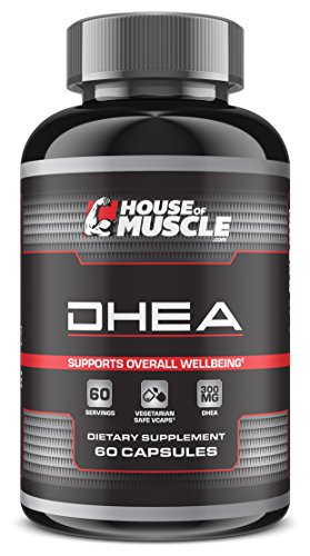 Non Gelatin (DHEA 300mg (60 Capsules), Most Potent DHEA Available, Restore DHEA Levels & Promote Hormonal Balance, Support Overall Health & Well-Being, Vegetarian Safe Non-Gelatin Capsules)