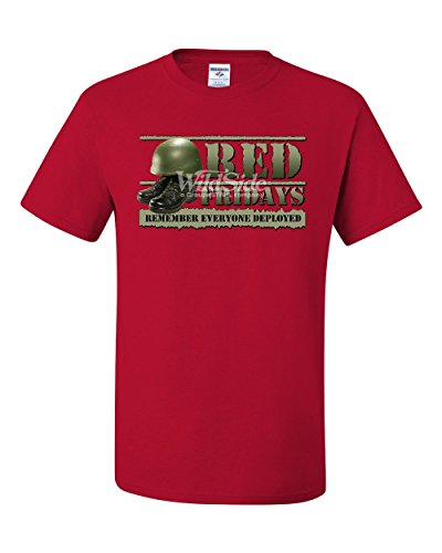 Red Fridays Remember Everyone Deployed T-Shirt Support US Troops Tee Shirt Red S