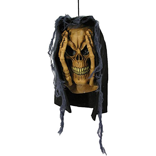 Peeping Tom Window Prop Skull Halloween Decoration -