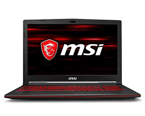 MSI GL63 8RD-210US Gaming Laptop i7-8750H GTX 1050Ti 4GB, 8GB RAM, 256GB SSD + 1TB HDD, 15.6