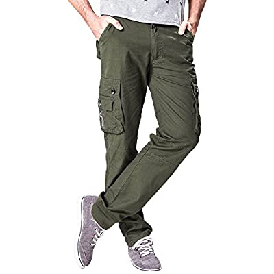 - 41Ykzkq7DhL - Geetobby Men Sweatpant Multi-Pocket Trouser Pants Combat Cargo Waist Work Casual