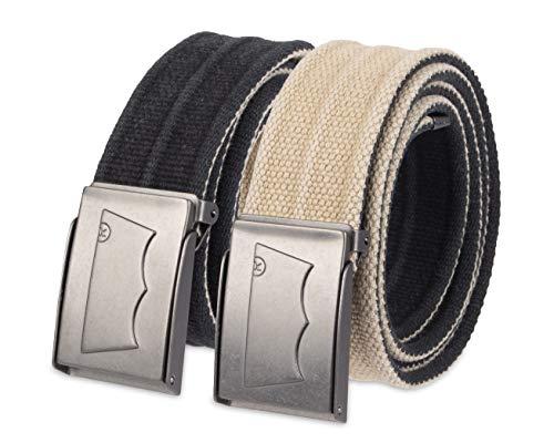(Levi's Men's Washed Cotton Reversible Web Belt,Black/Khaki,One Size)
