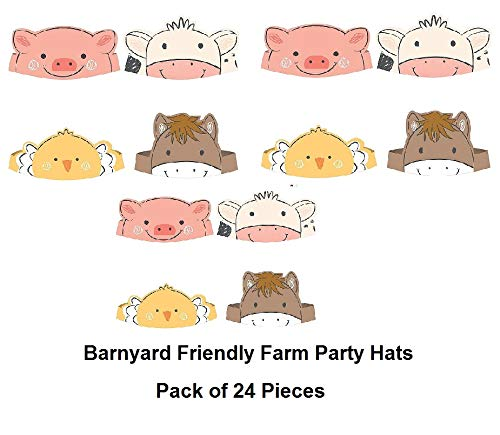 Amazon.com: Amsca Barnyard - Gorro de cumpleaños para granja ...
