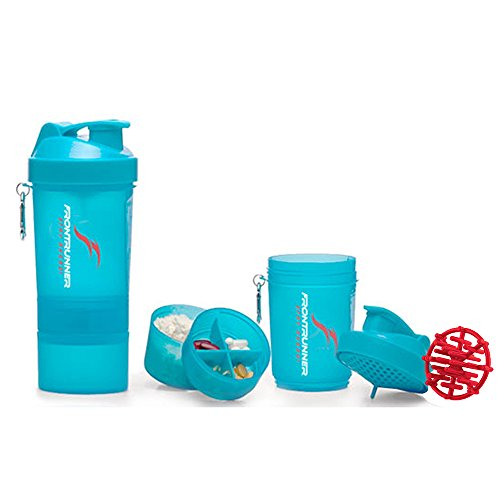 FrontRunner Fitness Premium Refuel Shaker - Protein Shaker - Water Bottle - 800mL (Sky Blue)