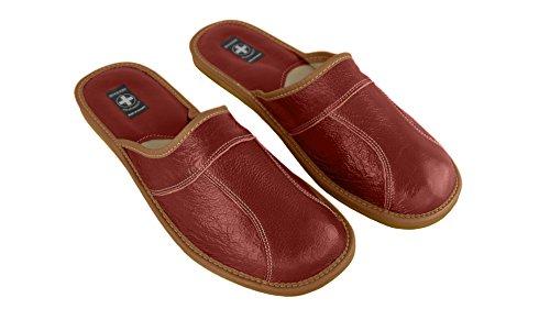 aveente - Zapatillas de estar por casa de Piel para hombre marrón