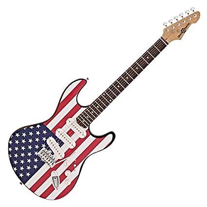 Guitarra Electrica LA de Gear4music Barras y Estrellas: Amazon.es ...