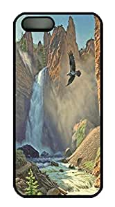 Art Tower Falls Back Case For Iphone 4/4S Cover (526 art) _618046