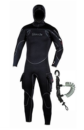 Hollis Scuba Diving Neotek Mens Semi-Drysuit w/ Coil Lanyard (Mens Semi Drysuit)