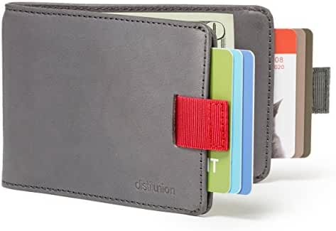 Distil Union - Slim, Minimalist Leather Bifold Wallets with Money Clip, Credit Card Holder