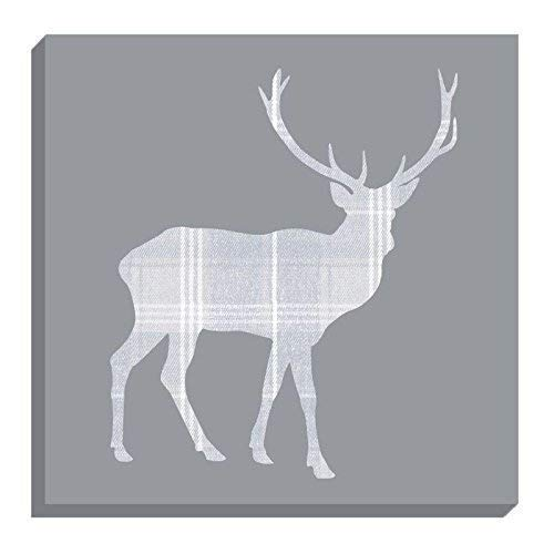 """SET OF 3 EVANS LICHFIELD PAINTED ANIMALS STAG STIRLING TARTAN 17"""" CUSHION COVERS"""