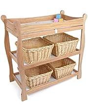 Ali@ Geavanceerd eiken babycommode, 0 ~ 3 jaar oude baby nemen een bad aanraken massagetafel, drie lagen kunnen worden verplaatst hoekframe, belasting 60 kg