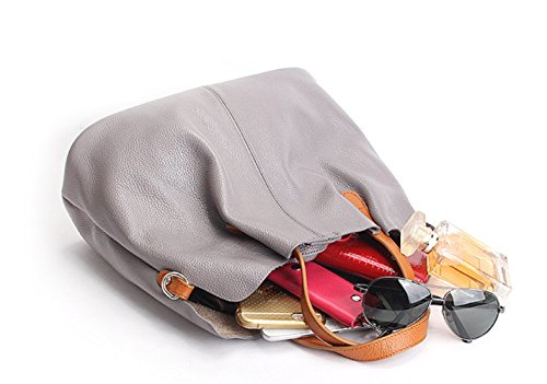 Detachable Handbags Gray Capacity Bag Mother Leather Bag Teacher�� Large q6SWt