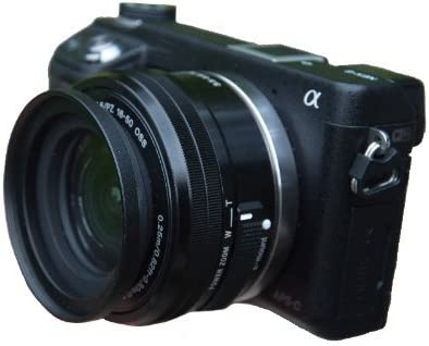 Tapa lente adecuado para Sony Alpha a5100 y 16-50 lente