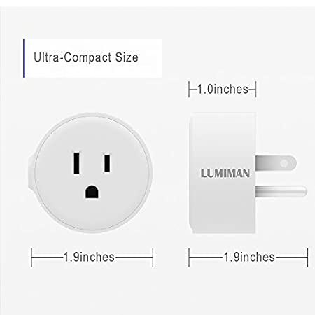 No Hub Required Waterproof for Indoor and Outdoor Use Compatible with  Alexa and Google Home Assistant LUMIMAN Energy Monitoring Wi-Fi Outlet with 2 Socket Outdoor Smart Plug