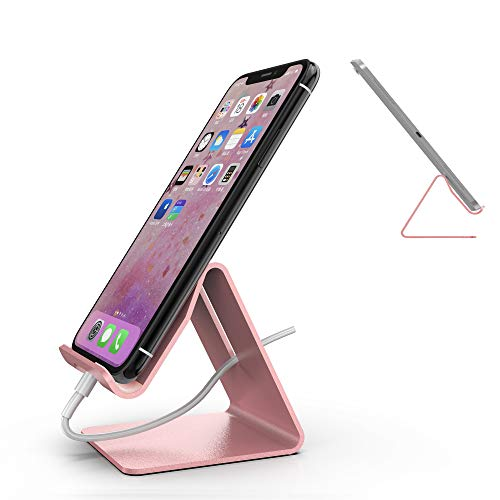 - Mr. Spades-Cell Phone Stand, Phone Dock,Phone Holder:Cradle Holder Stand Compatible with Switch, All Android Smartphone, Phone 6 6s 7 8 X Plus 5 5s 5c XS Max XR Charging, Accessories Desk - Pink