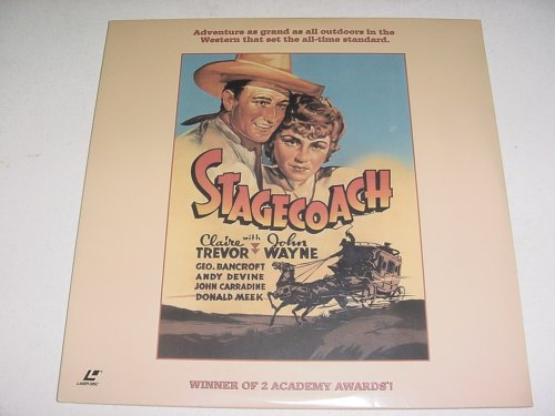 Laserdisc Stagecoach with John Wayne, Claire Trevor, Andy Devine, John Carradine,Thomas Mitchell, Louise Platt, George Bancroft, Donald Meek, Berton Churchill, and Tim Holt. Directed by John - Ford Holt