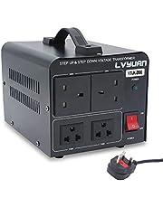 Cantonape Voltage Converter 2000W Step Up Step Down UK to US Transformer with 2 US & 2 UK outlets for 220V-110V & 110V-220V