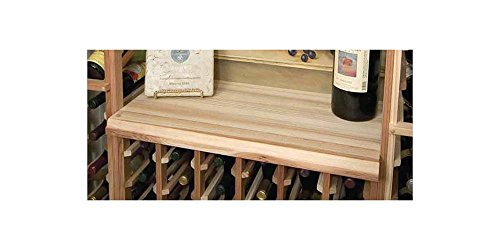 Designer Table Top Below Glass Rack (Prime Mahogany - Light Stain) by Wine Cellar Innovations