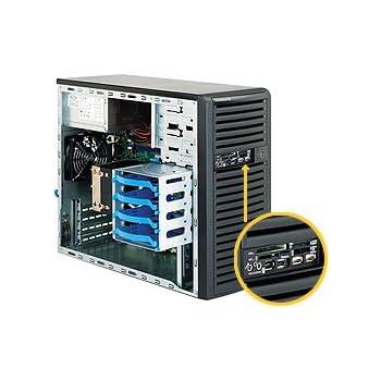 Supermicro 300W Mini Tower Server Chassis, Black (CSE-731D-300B)