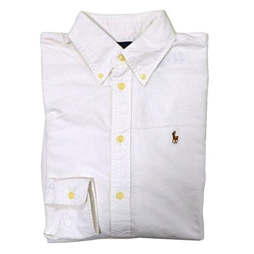Ralph Lauren Womens Oxford Classic Fit Button Down Dress Shirt (White, (Ladies Classic Oxford Shirt)