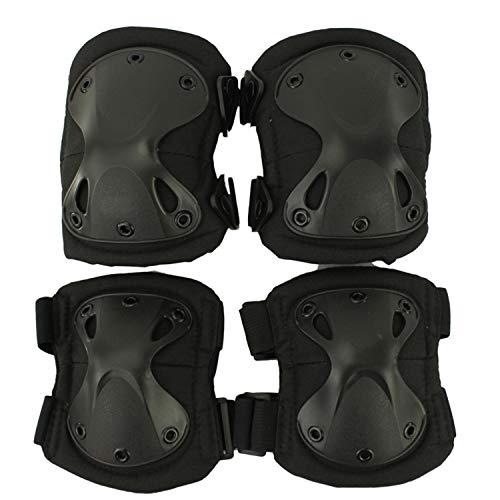 Chiced Tactical Joelheira Airsoft 1 Pair Knee Pads and 1 Pair Keen Elbow Protector Pad Set Rodilleras Tacticas