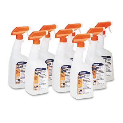 Febreze Fabric Refresher & Odor Eliminator, Fresh Clean, 32oz Trigger Sprayer, 8/Carton