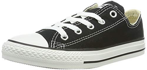 Converse unisex-child Chuck Taylor All Star Low Top Sneaker, Black, 2 M US Little Kid ()