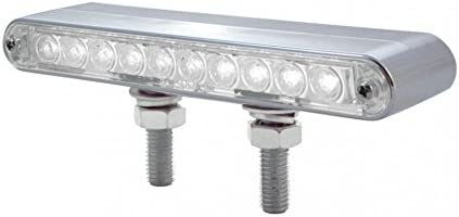Amber LED//Clear Lens 1 Pack United Pacific 37633 10 LED 6 1//2 Double Face Light Bar