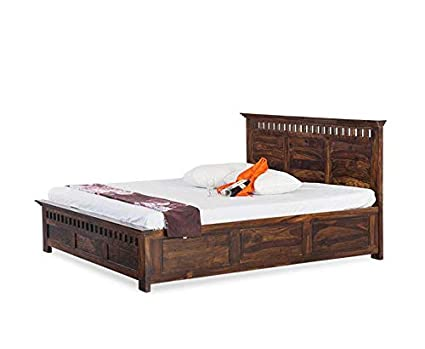Super Saraf Furniture King Size Solid Wood Bed With Box Storage Sheesham Wood Dark Brown Download Free Architecture Designs Boapuretrmadebymaigaardcom