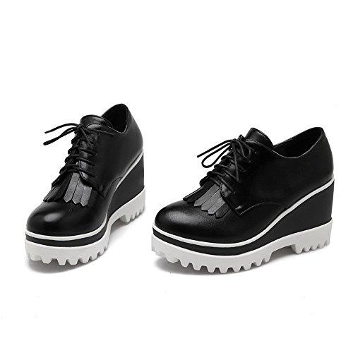 Balamasa Ladies Nappe Gear Benda Inferiore Imitato Pumps-shoes In Pelle Nera