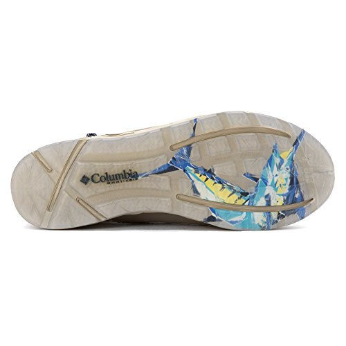 Columbia Men's Bahama Vent Marlin PFG Leather Casual Boat Shoes Vivid Blue, Columbia Grey