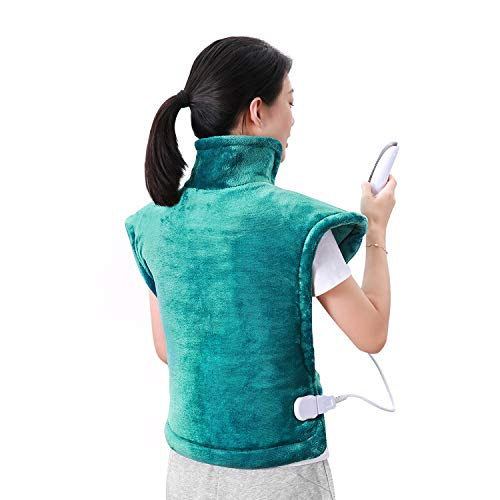 MaxKare Electric Heating Pad Neck Shoulder and Back Heating Wrap Back Pain, Sorness, Stress Relief Fast-Heating 5 Temperature Settings Auto Shut Off 24'' x 33''