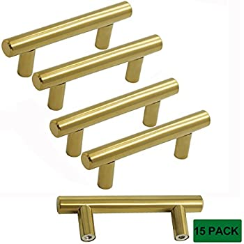 probrico kitchen cabinet bar knobs bathroom brushed brass drawer