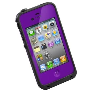 LifeProof FRE iPhone 4/4s Waterproof Case - Retail Packaging - PURPLE/BLACK (Discontinued by Manufacturer)