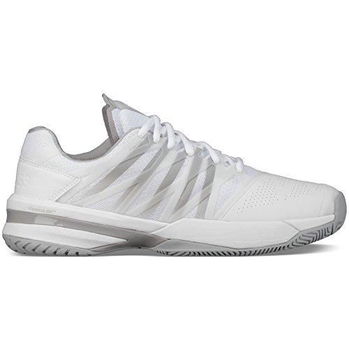 K-Swiss Women's UltraShot Tennis Shoe (White/High Rise, 8.5 M US) -