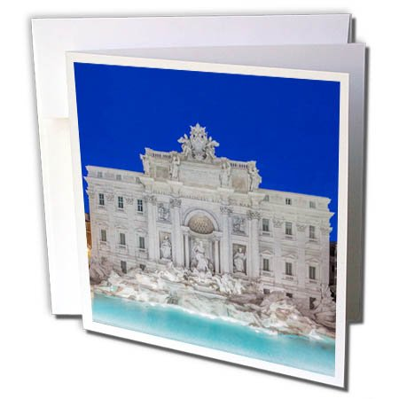 3dRose Greeting Card Italy, Rome, Trevi Fountain, 6 x 6