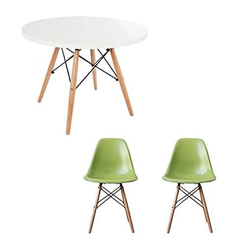 rund wei tisch mit wahl der stuhl farben green - Stuhlfarben