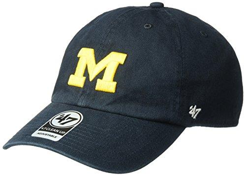 NCAA Michigan Wolverines Clean Up Adjustable Hat, One Size, (Ncaa Hat Michigan Wolverines Cap)