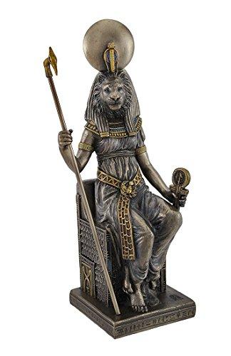 VERONESE Egyptian Goddess Sekhmet Sitting on Throne Statue
