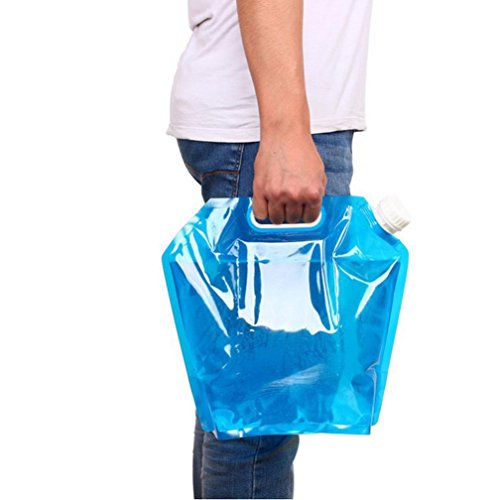 LtrottedJ 5L /10L Folding Drinking Water Bucket Camping Hiking Water ,Container Storage Bag, (A)