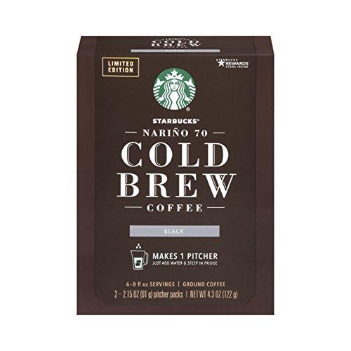 Starbucks Nariño 70 Cold Brew Pitcher Packs, Medium Roast Coffee-4.3 Oz(Pack of 4)