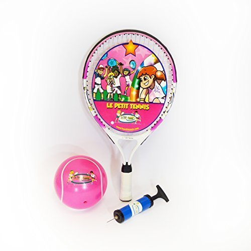 Le Petit Tennis Pink Racquet 19′ + Purple Ball for Ages 5