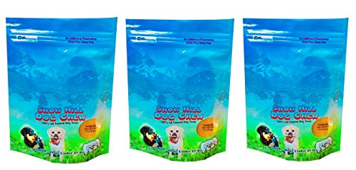 Himalayan Snow Hill Yak Milk Hard Chews Small 9 Pieces 3 Bulk Pack 10.58 oz Natural Yaky Cheese Treats for Dog Under 25 lbs