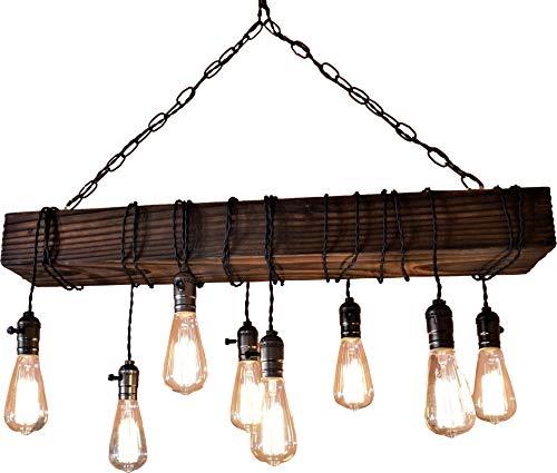 Muller-designs farmhouse chandelier-wood beam-chandelier-rustic chandelier Review