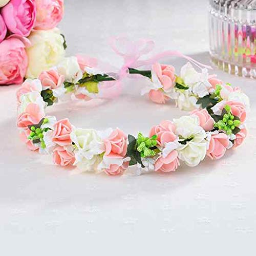 OLIJU Children Crown Hair Styling Clip Jewelry Hairpin Hoop Girl Princess Tiara Garland Knot (Strawberry Flower (Splendor Version) Garland