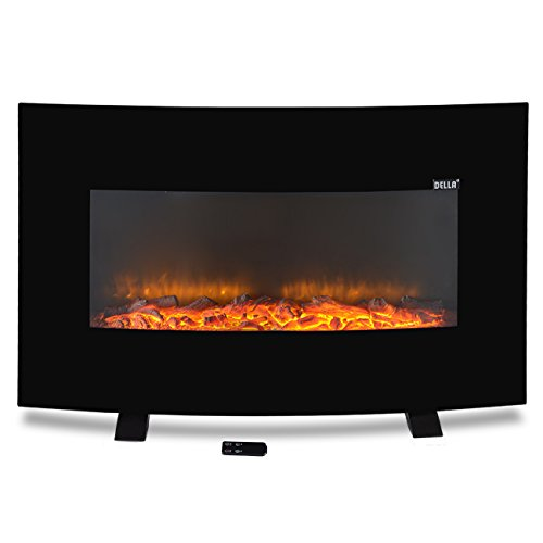 Adjustable Electric Standing Curved Fireplace
