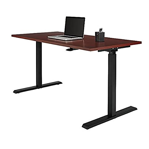 Realspace Magellan Steel/Wood Stand Up Height-Adjustable Desk, Classic Cherry Item # 102866 - Standard Height Cherry
