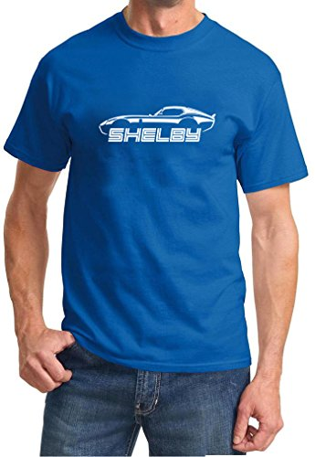 Shelby Cobra Daytona Coupe Classic Outline Design Tshirt 3XL royal