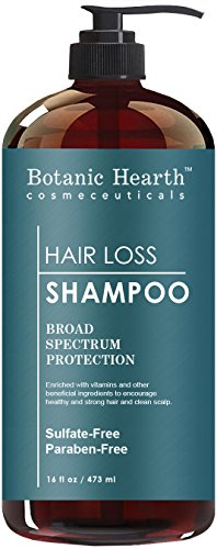 Botanic Hearth Hair Loss Shampoo with Biotin, Rosemary Oil and Growth Promoting Natural Ingredient, Promotes Healthy and Strong Hair, Sulfate Free Shampoo, 16 fl oz