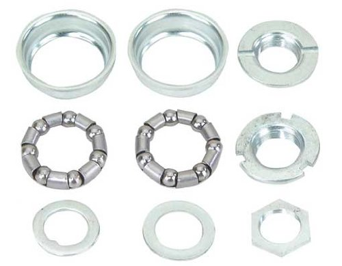 Bottom Bracket Set 1/Piece Crank 5/16x7 24t Chrome. for bicycle bottom bracket, bike bottom bracket, lowrider bikes, beach cruiser, limos, stretch bicycles, track, fixie